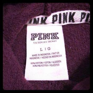 PINK Maroon Hoodie